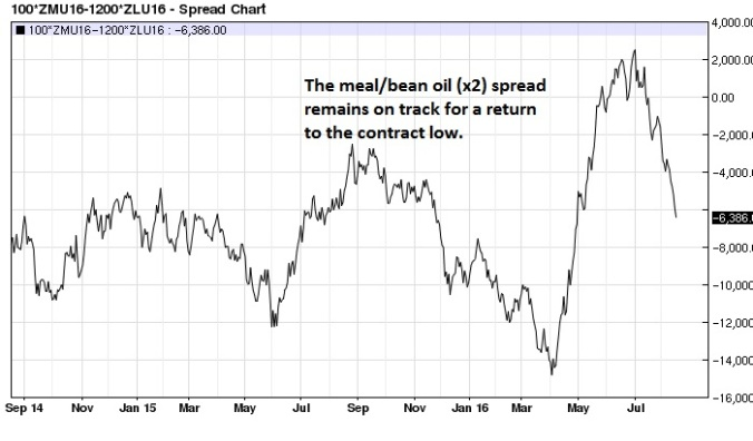 September Soy Meal Bean Oil (x2) spread daily